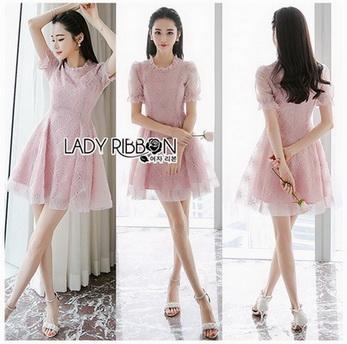 Lady Monica Baby Pink Tulle Mini Dress