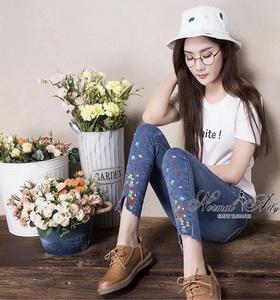 กางเกงยีนส์ผ้านาโน Super ยืด จับทรงขาให้สวย