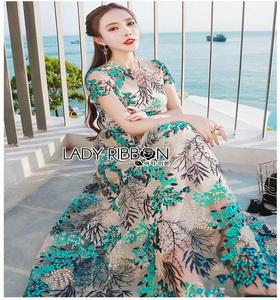 Lady Ribbon Lace Maxi Dress ขายส่งเดรสยาว
