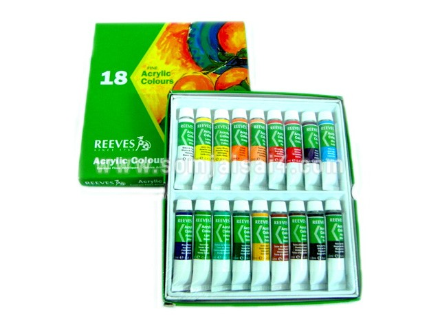 REEVES fine acrylic colour set 18 colour