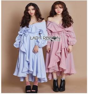 Cotton Dress Lady Ribbon เดรสผ้าลายทาง