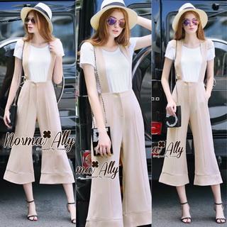 Lady Ribbon Online เสื้อผ้าออนไลน์ขายส่ง Normal Ally เสื้อผ้า,NA07220816 &#x1F389Normal Ally Present Boutique Bib overalls classic and T-Shirt set&#x1F389 (เสื้อยืด + เอี้ยม ,มีซับใน)