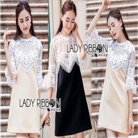 Lace Dress เดรสผ้าลูกไม้สีขาว