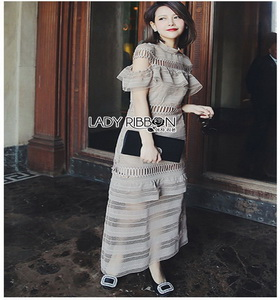 Lace Maxi Dress Lady Ribbon เดรสยาว