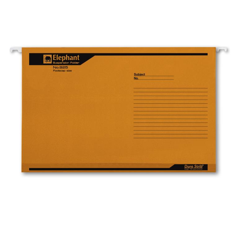 แฟ้มแขวนตราช้าง รุ่น 925 สีส้ม (บรรจุ 10 เล่ม)