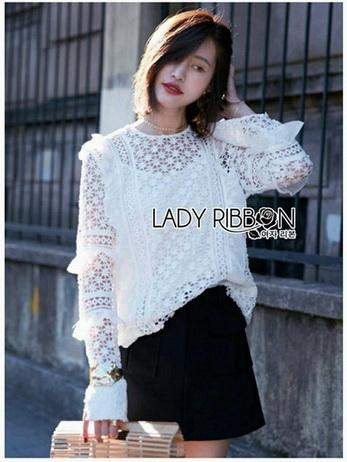 Lady Olivia Vintage Flower Lace Blouse