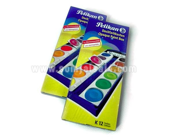 Pelikan ชุดสีน้ำตลับ 12 สี