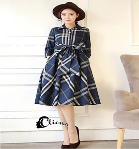 Dress Jacket -เดรสลายสก๊อตแบรนดัง.