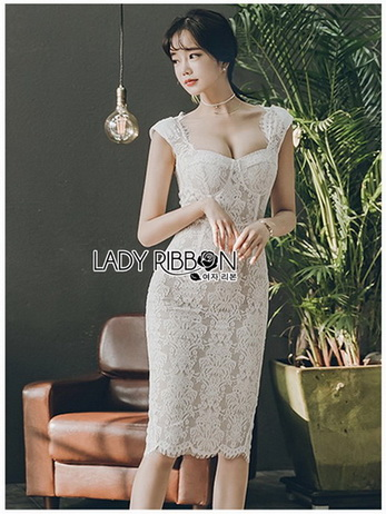 Lady Leanne Sexy Feminine White Lace Dress