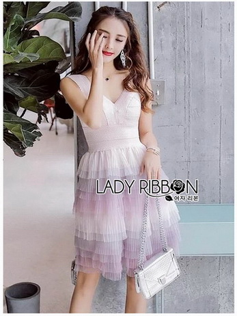Lady Evelyn Cotton Candy pastel Ruffle Tulle Dress