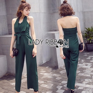 Lady Ribbon Fiona Chic Dark Green Jumpsuit