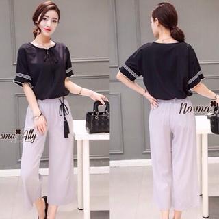 Lady Ribbon Online เสื้อผ้าออนไลน์ขายส่ง Normal Ally เสื้อผ้า,NA02220816 &#x1F389Normal Ally Present cusual shirt and pant and asia style belt&#x1F389 (เสื้อ + กางเกง, เข็มขัด)