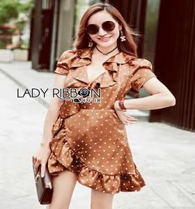 Crepe Lady Ribbon Mini Dress มินิเดรส