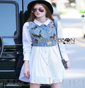 Lady Ribbon Cotton Shirt ขายส่งเชิ้ตเดรส
