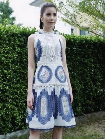Lady Madison Modern Lace and Crepe Dress
