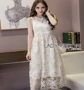 Lady Ribbon Amanda Flower Embroidered Tulle Dress