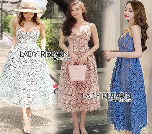 Lady Ribbon Self-Portrait Lace Dress