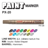 uni PAINT MARKER PX-20 (2.2-2.8 mm.)