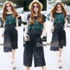 Lady Ribbon Online เสื้อผ้าออนไลน์ขายส่ง Normal Ally เสื้อผ้า NA08150816 &#x1F389Normal Ally Present embroider flower shirt and lace pant set&#x1F389 (เสื้อแต่งลูกไม้ทอปัก+ กางเกงลูกไม้มีซับใน)