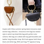 Chloe Brow & Black Nile Bag
