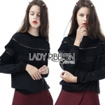 Lady Ribbon Mini Lace Jumper