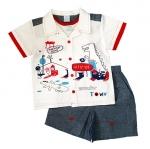 **MonOURS** SM1678 Size 12, 18, 24 เดือน เสื้อผ้าเด็กชาย ชุด 3 ชิ้น มีเสื้อตัวใน ขายส่งเสื้อผ้าเด็ก ยกแพค 6 ชุดต่อแบบ ครบไซส์
