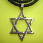 417 Lucky star of David ขนาด 3 * 3.5 cm