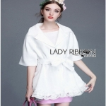 Lady Ribbon Olivia Mini Coat with Belt ขายส่งมินิโค้ต