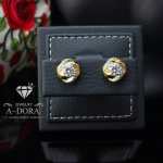 A~Dora Brand 18K Gold Plated Earrings CZ Flower Stud Earrings Fashion Jewelry
