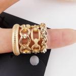 AD1611 - แหวนแฟชั่น,แหวน,แหวนเกาหลี,เครื่องประดับ Korea hot models hollow ring buckle ring