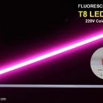 หลอดไฟนีออนสี กันน้ำ 100% ไฟงานวัด แสงชมพู พร้อมสายไฟเสียบปลั๊กใช้งานได้เลย