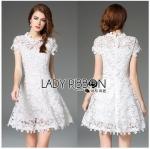 Lady Ribbon Online ขายส่ง เสื้อผ้าออนไลน์ ของแท้ ราคาถูกพร้อมส่ง เลดี้ริบบอน LR08140716 &#x1F380 Lady Ribbon's Made &#x1F380 Lady Michelle Modern Bohemian Fringed Lace Dress