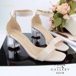 รองเท้าส้นสูงแบบรัดข้อเท้าทรง Zara วัสดุหนังแก้วส้นคริตตัสสูง2นิ้วเสริมหน้า1ซม.สายรัดแต่งอะไหล่เงินงานดีทรงสวยคะ พร้อมส่ง2 สี