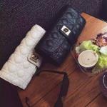 กระเป๋าclutchทรงDiorมีสายยาว เป็นสายโซ่ งานสวยเเป๊ะ มาเพิ่ม2 สี ดำ เทา