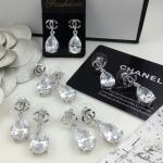 Chanel Earring รุ่นประดับเพชรสวยมาก เพชรวิ้งแสบตา งานเพชรฝังไม่หลุด ตัวเรือนสีเงิน