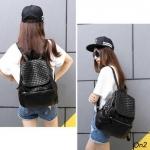 *Bottega Veneta backpack เป้หนังสีดำ*
