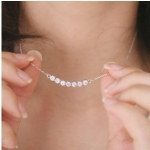 F414 - สร้อยเพชร,สร้อยคอเงิน,สร้อยคอเพชร,สร้อยคู่รัก,สร้อยจี้,เครื่องประดับ the little star necklace