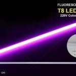 หลอดไฟนีออนสี กันน้ำ 100% ไฟงานวัด แสงสีม่วง พร้อมสายไฟเสียบปลั๊กใช้งานได้เลย