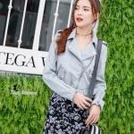 เสื้อแฟชั่นเกาหลีแจ็คเก็ต ZARA ดีไซด์เกร๋ ทำจากหนังกลับเกรดดี