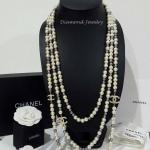Chanel Necklace งานมุกทูโทน 3 ชั้น มุกเคลือบ 7 ชั้นอย่างดี