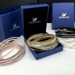 Swarovski Bracelet ข้อมือหนัง งานชวารอฟสกี้ 4 สี