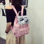 Chiara ferragni backpack ติดขนตาฟรุ้งฟริ้ง ทรงสวย จุของได้เยอะมาก สายปรับความยาวได้ มี3สี ขาว ชมพู แดง