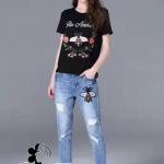 BRAND GUCCI 2017 SET เสื้อยืด+กางเกงยีนส์