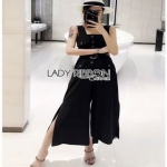 Lady Ribbon Minimal Cotton Jumpsuit จัมป์สูท