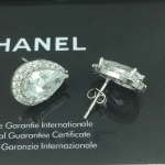 CZ Diamond Earring งานเหมือนเพชรแท้ เพชรฝัง เพชรละเอียดล้อมเพชร