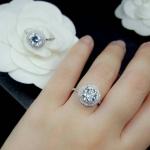 Diamond Ring งานเพชร CZ แท้ งานล้อมเพชร 3 ชั้น เพชรคัดเกรดสวยมาก ทรงสวย ดีไซส์โมเดิน งานเกรดจิวรี่