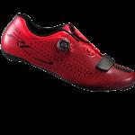 รองเท้าจักรยานเสือหมอบ Shimano RC7 พื้นคาร์บอน สีแดง