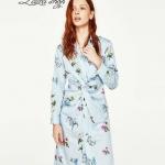 Zara dress คอปกเนื้อผ้าcotton