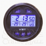 VST7042V Car Alarm Clock With In/Out Thermometer & Battery Monitor Recess Type