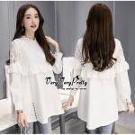 VLady Ribbon Online เสื้อผ้าแฟชั่นออนไลน์ขายส่ง เลดี้ริบบอนของแท้พร้อมส่ง Veryverypreppy เสื้อผ้า P09240716 Sweet Vintage Lace Blouse Style Korea
